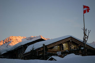 Mountain chalet evenings